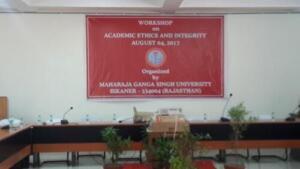 Maharaja Ganga Singh University, Bikaner, 04/08/2017 Emerging Cyber Threats & Academic Honesty