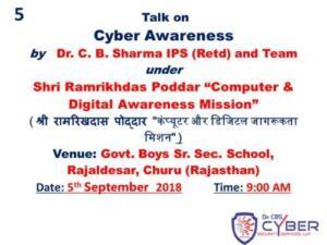 Shri Ramrikhdas Poddar Girls Sn. Sec. School , Fatehpur 21/05/2018-22/05/2018 Cyber Security: Safe use of Computer and Mobile